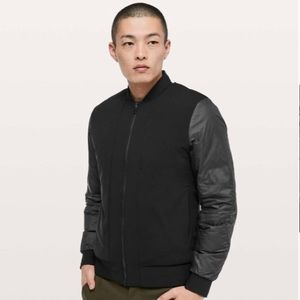 Lululemon About Face Reversible Blk Bomber Jacket